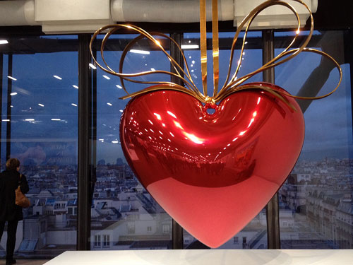 Hanging Heart de Jeff Koons
