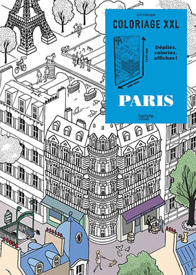 Poster para colorir, Paris