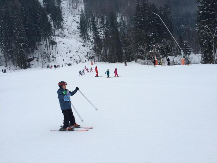 Les Planards, em Chamonix, pistas fáceis para quem está começando com escolinha de esqui para crianças e adultos.