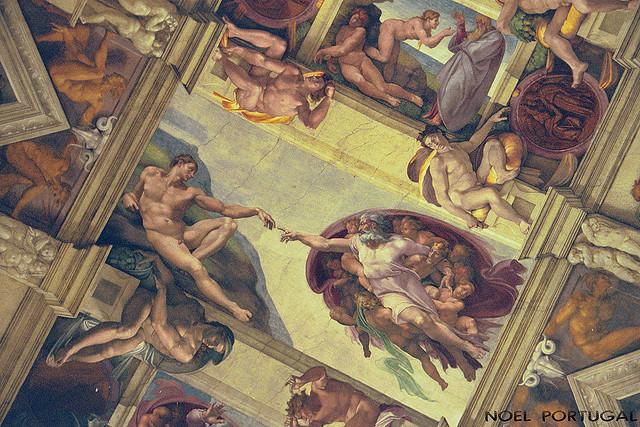 A Capela Sistina, no Vaticano. Foto de Noel Portugal.