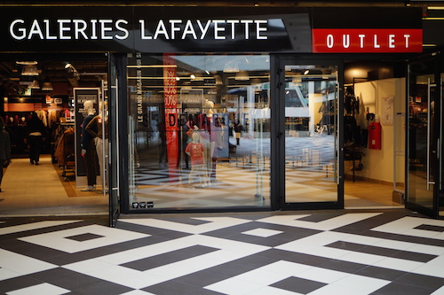 O outlet das Galeries Lafayette.