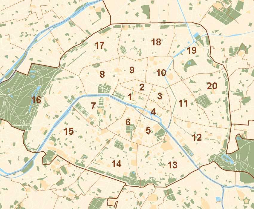 onde ficar em paris mapa de paris