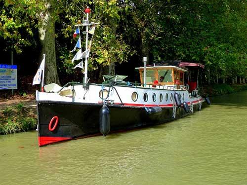 Canal du Midi, barco inglês