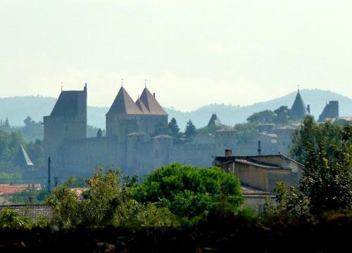Canal du Midi, muralhas de Carcassone