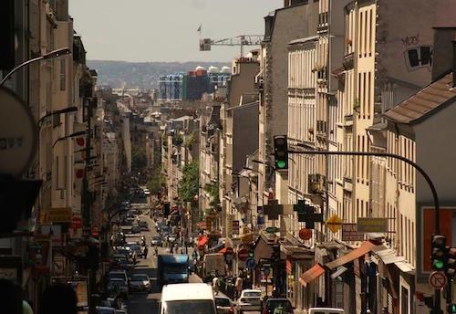 Rue de Ménilmontant, uma das principais ruas do 20ème.