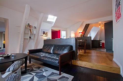 Apartamento em Paris, sala