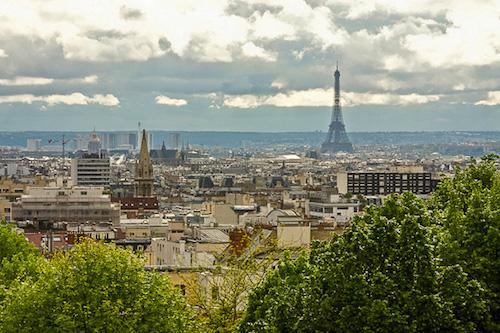 Vista de Paris a partir do Parc de Belleville (Foto: http://www.nyhabitat.com)