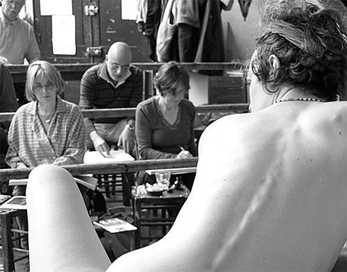 Academie de la Grande Chaumière, curso de desenho com modelo