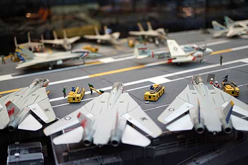Maquete de porta aviões