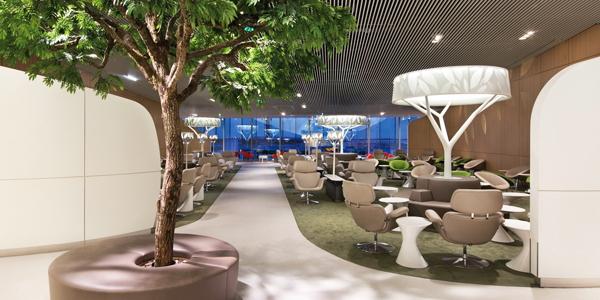 O Salão VIP da Air France, no terminal 2C do aeroporto Charles de Gaulle