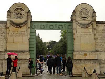 Cemitério Père Lachaise onde se encontra o túmulo