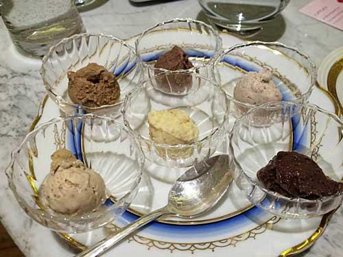 Farandole de degustação de sorvetes