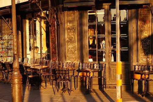 Sol da tarde em café da Ilha Saint Louis