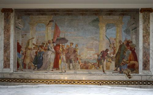 Decoração mural de Tiepolo