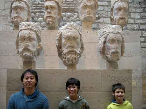 As cabeças da Notre Dame no Museu