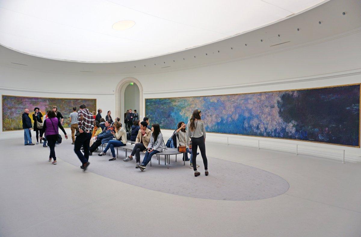 O Museu da Orangerie, em Paris, que abriga as Ninfeias pintadas por Claude Monet.