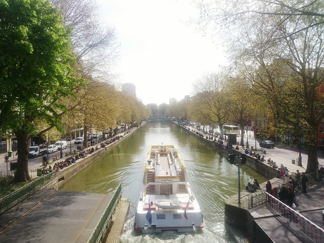 As margens da Canal Saint Martin.