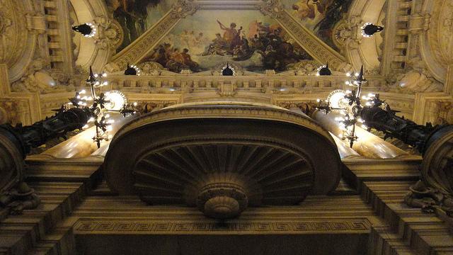 Afrescos do teto da Ópera Garnier.