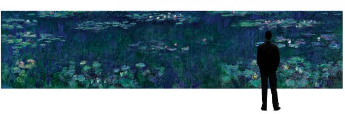 O jardim de aquático de Monet, pintado por ele.