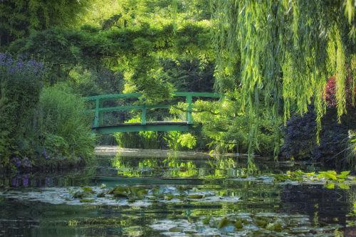 O jardim aquático da casa de Claude Monet, em Giverny