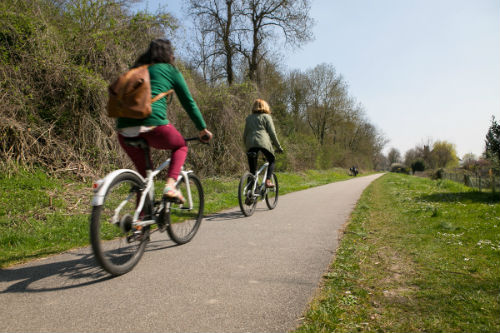 A ciclovia entre Vernon e Giverny