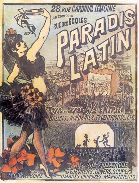 Antigo poster do Paradis Latin