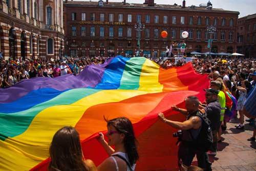 Bandeira símbolo gay