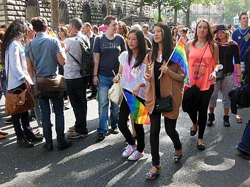Gay Pride em Paris. Créditos Sérgio T. Gonçalves
