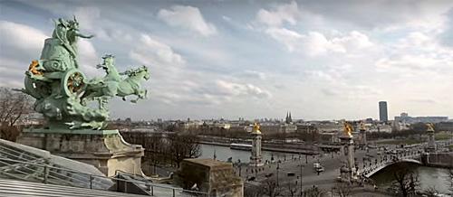 Vista telhado Grand Palais. Prt Scr Google