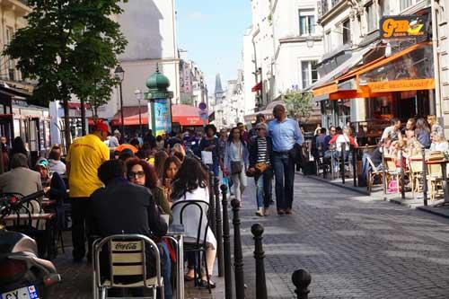 Área pedestre Les Halles