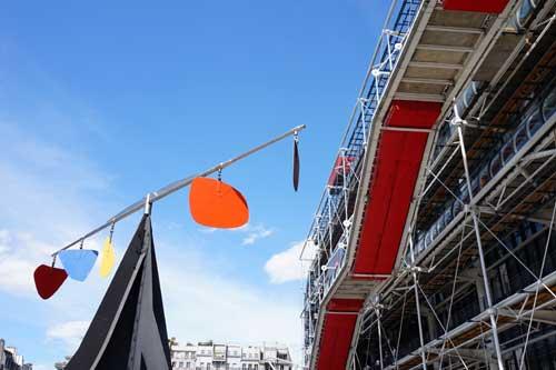 Les Halles, esplanada do Centre Pompidou
