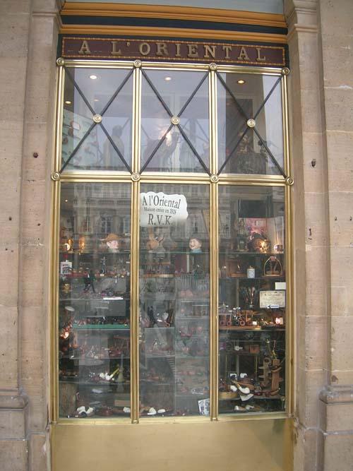 A vitrine da loja de cachimbos À l'Oriental.