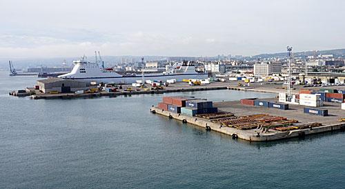 Porto de comércio de Marseille