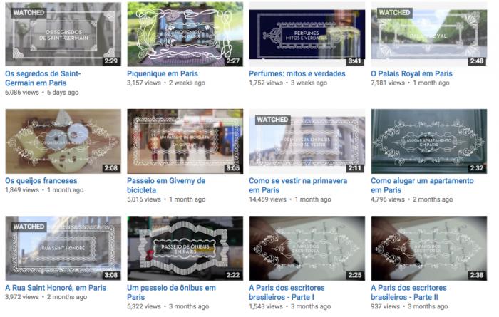 Os vídeos do Conexão Paris no nosso canal no You Tube.