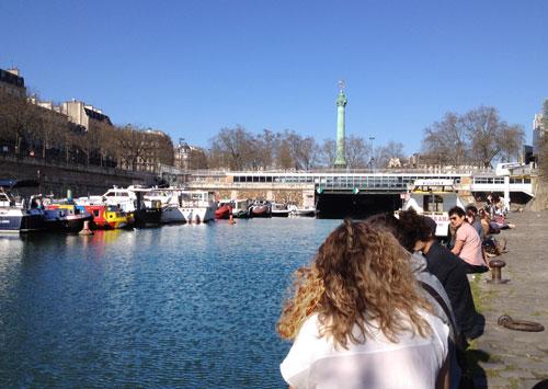 Vista da Bastille. Porto Fluvial de Paris