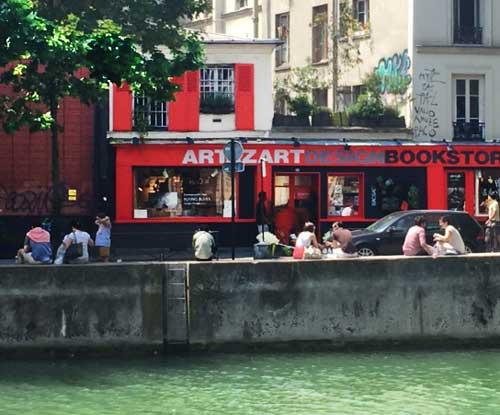 Canal Saint Martin, livraria Art