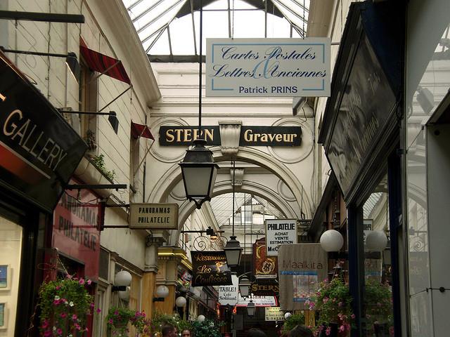 A Passage des Panoramas é a mais antiga galeria de Paris.