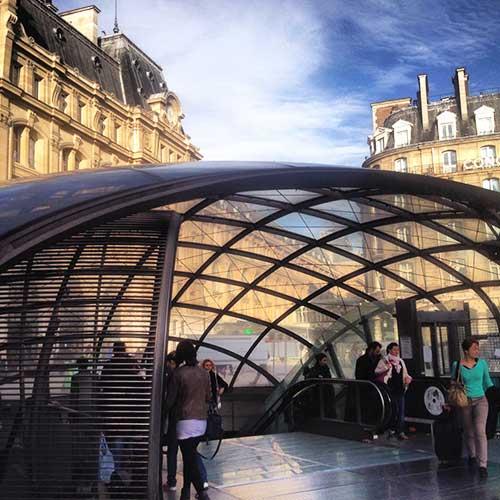 Nova entrada da Gare Saint Lazare