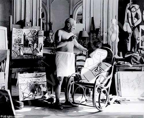 Picasso na sua casa da Côte d'Azur