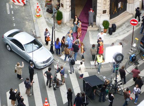 Filmagem, cenas de rua