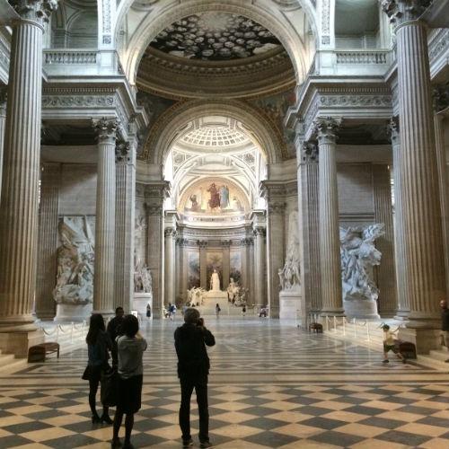 Vista a partir da entrada do Panthéon