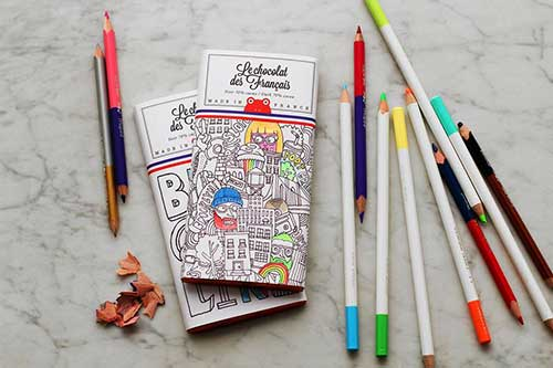 Embalagem para colorir