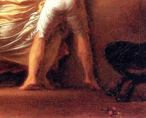 Fragonard, Le Verrou, detalhe