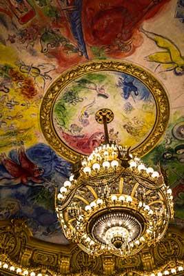 Teto Opera de Paris. WJY8467 no Shutterstock