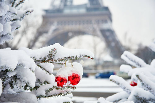Paris no inverno. Ekaterina Pokrovsky no Shutterstock
