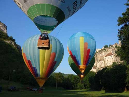 Rocamadour: a partir de um balão