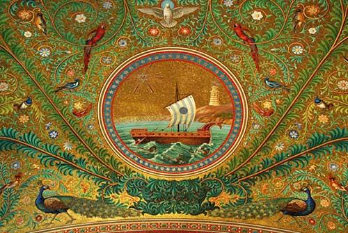 Mosaicos: medalhão central