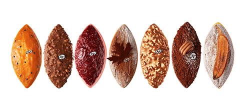 Bolos tradicionais em formato calisson