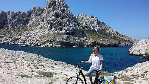Um passeio de bike pelas calanques de Marseille