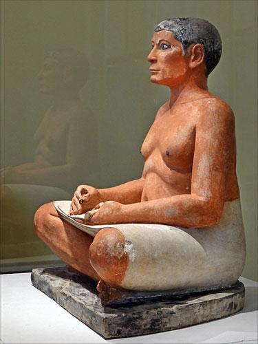 Escriba, Museu do Louvre. Jean-Pierre Dalbera no Flickr